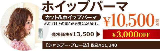 ホイップパーマ¥10,500