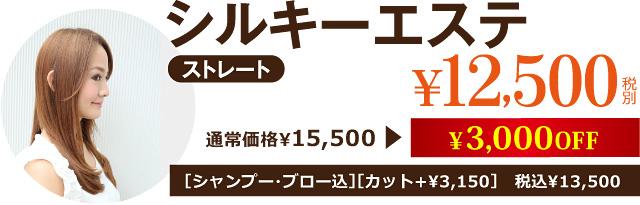 シルキーエステ¥12,500