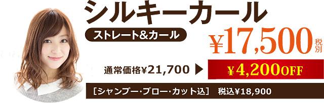 シルキーカール¥17,500